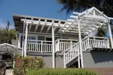 pergola adds shade and curb appeal