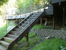 stairs designed to accommodate current and future landscaping