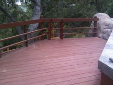 at the end of the deck is a gate