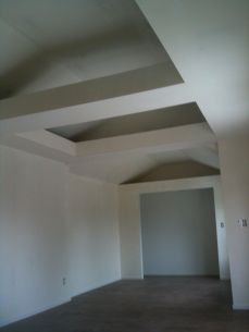 bedroom area; closet ready for finishing