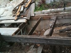 termites and wood destroyed the frame and decking