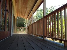 zero maintenance plastic and wood composite decking