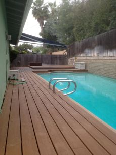 deck covers entire back yard