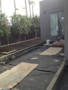 keeping the frame/deck low to change a yard into additional living space