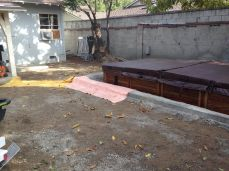 original view of the yard and a 10' x 20' sunken spa