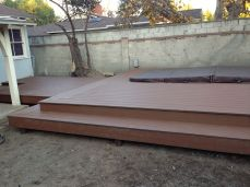 finished deck ready for landscaping