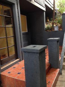 original view of small patio