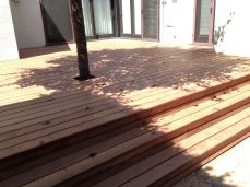 new framing and kayu batu decking