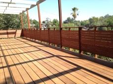 new frame and kayu batu decking and railing
